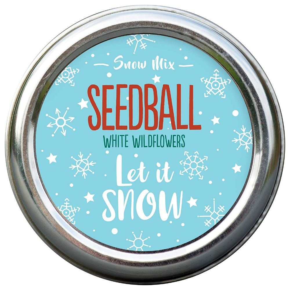 Let it Snow. Seedball mix of white meadow plants